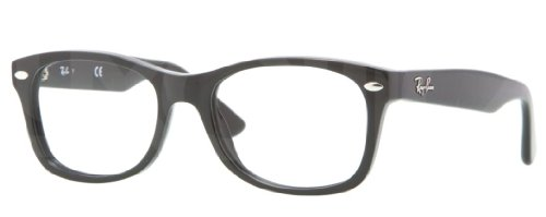Ray Ban Junior RY1528 Eyeglasses-3542 Black-48mm (Ban Ray Black Wayfarer Cheap)