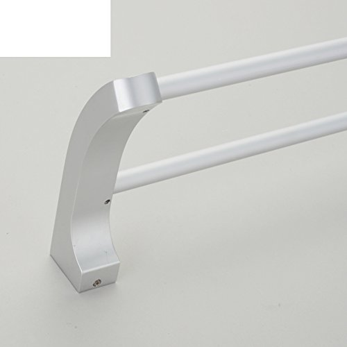 Bath double towel bar/toilet/Bathroom accessories/Wall mounted Towel Bar and thicken cloth-bar/[Thick cloth rod]/shelf /Towel hanger-A durable modeling