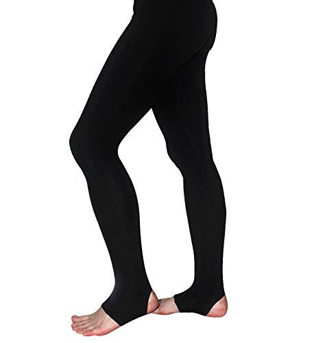 AceAcr Gymnastic Stirrup Pants for Mens Stretch Ballet Tights Stretch Soft Dance Pants Latin Dance Wear Ballerina Tights Black