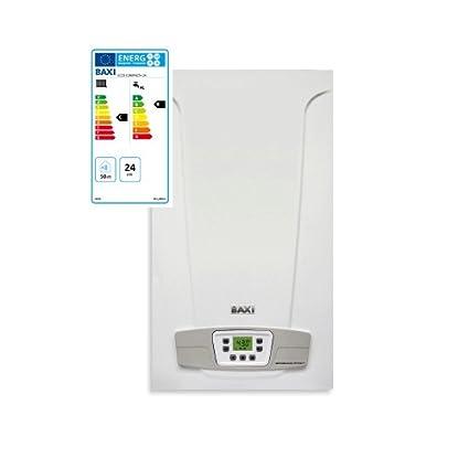 Baxi Eco5 Compact+ - Caldera de gas, 24 kW, ErP, cámara