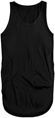 f250[スワンユニオン] swanunion メンズ タンクトップ 無地 ブラック 黒 スリム タイト インナー ロング丈