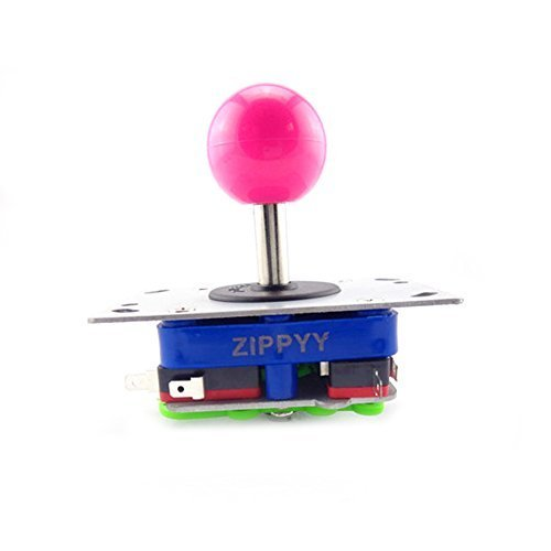 Winit Pink Ball 4 & 8 Way Adjustable Arcade Joystick PC Fighting Stick Parts for Video Game Arcade (Arcade Namco Machines)