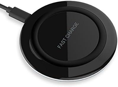 Cargador inalámbrico rápido, Yootech IQ Wireless Pad de carga para Galaxy S8, S8 Plus, S7 Edge, S7, nota 5, S6 Edge Plus [sueño cómodo] [sensor de ...
