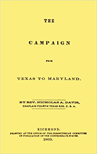 Book The Campaign From Texas To Maryland