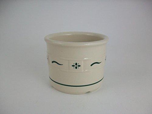 Longaberger Pottery 1 Pint Salt Crock in Heritage Green