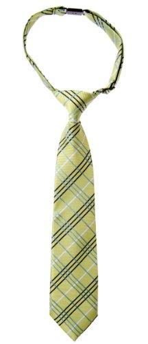 (Retreez Tartan Plaid Styles Woven Microfiber Pre-tied Boy's Tie - Green - 24 months - 4 years)