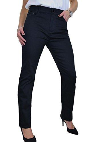 Jeans Dritte Donne Nero Le Con Stretch Gambe Ice Formato Più Il aRnqvx