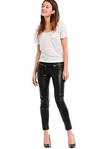 Black Lambskin Leather Pants - Ellos Women's Plus Size Skinny Leather Pants Black,20