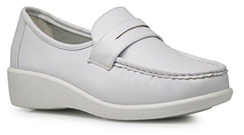 Romeo Slip - Enzo Romeo HY01 Women Slip On Loafers Nurse Work Medical Waitress Shoes Clogs Slip Resistant Shoes (9, Harmony01)