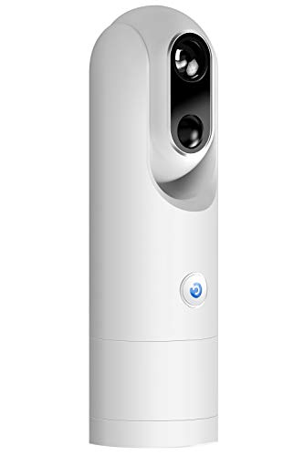 Wireless Home Security AI Camera – 1080P FHD Wi-Fi Battery-Powered Surveillance Camera, Person Detection, Face Recognition, Low False Alarm, Night Vision, 2-Way Audio, Free 8GB Storage – White