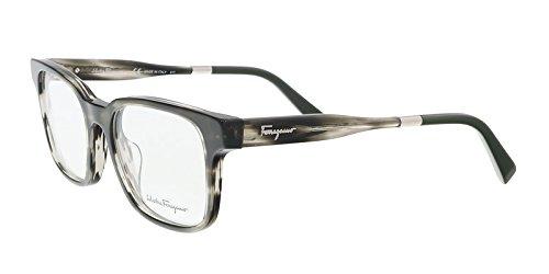 Eyeglasses FERRAGAMO SF 2787 027 STRIPED GREY/GREEN