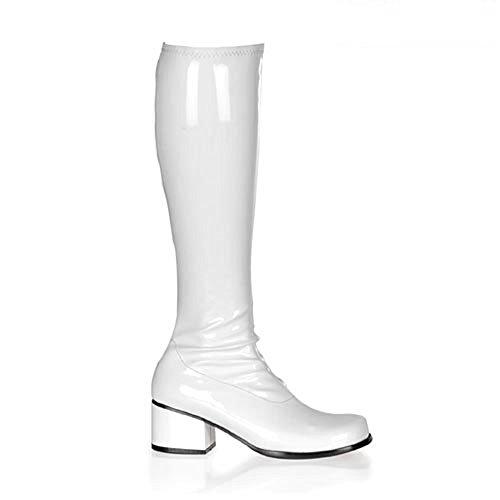Heels-Perfect - Zapatos de vestir de material sintético para mujer blanco blanco blanco - Weiß (Lack Weiß)