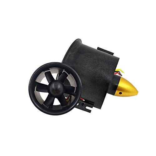 Vaorwne 70mm Duct Fan Unit with 3000KV 6 Leaves Brushless Outrunner Motor for RC EDF Jet AirPlane