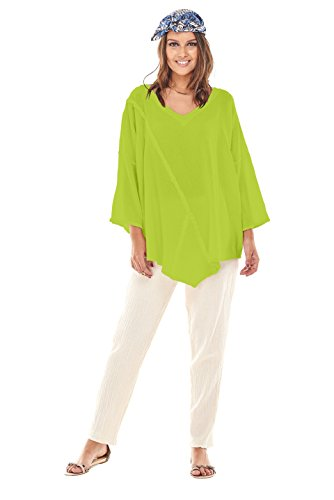 Citron Tunic - Oh My Gauze Women's Aruba Cotton Blouse Tunic Top One Size (Citron)