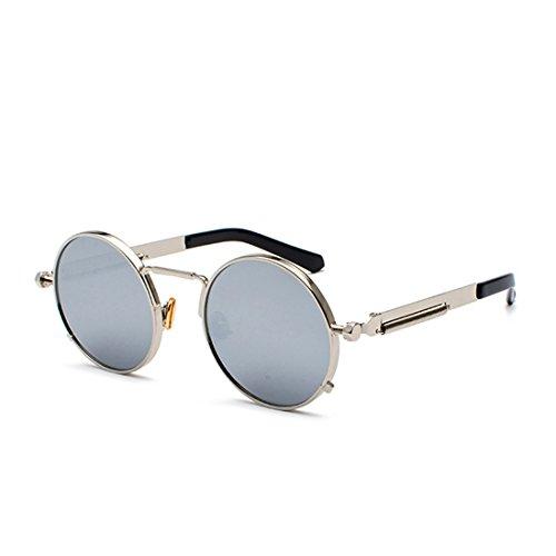 Soleil Dames Lunettes Métal Pour En Argent De Yefree Vintage Ovales Rondes Hommes qfgIEwSx