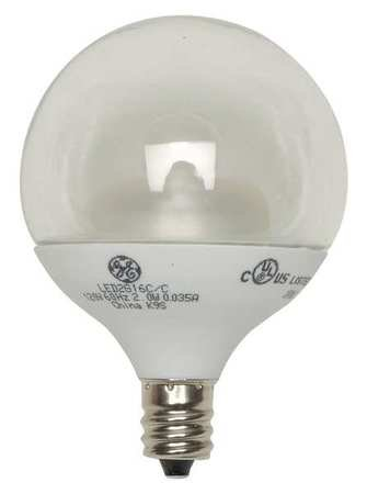 GE LED Lamp, G16.5, E12, 4.5W, 2700K