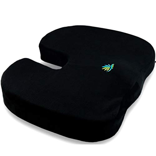 (Coolidge Premium Quality Seat Cushion -  Comfort Memory Foam Coccyx Car and Office Seat Cushion Designed for Back Support, Sciatica and Tailbone Pain)
