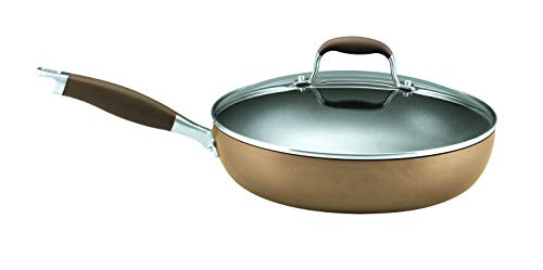 Anolon Advanced Bronze Hard-Anodized Nonstick 12-Inch Covered Deep Skillet