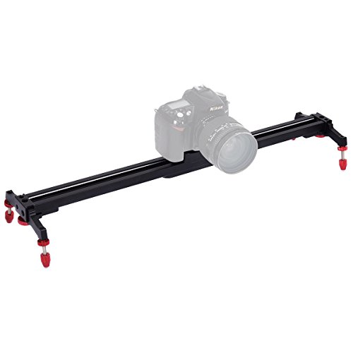 Safstar 48''Aluminum Alloy Camera Track Slider Video Stabilizer Rail with 4 Ball-Bearings for DSLR Camera DV Video Camcorder Film Photography by S AFSTAR