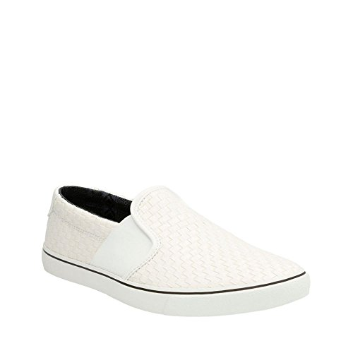 Clarks Mens Gosling Step White Synthetic