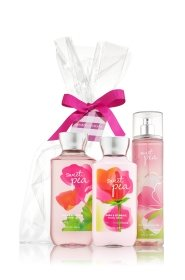 Bath and Body Works Sweet Pea Set, Body Lotion, Shower Gel and Fragrance Mist, Full Size by Bath & Body Works
