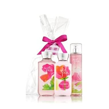 BATH AND BODY WORKS, SWEET PEA ,GIFT SET,body lotion,shower gel,fragrance mist.