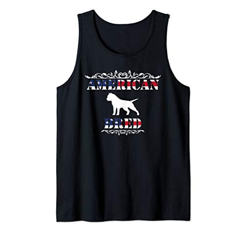 - American Pit Bull Terrier TShirt Patriotic Dog USA Flag Gift Tank Top
