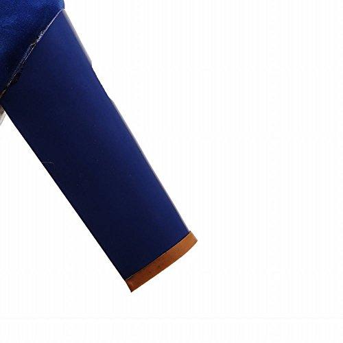 Carol Skor Mode Kvinna Ankel-rem Blandade Färger Sommar Plattform Chunky Hög Klack Sandaler Blå