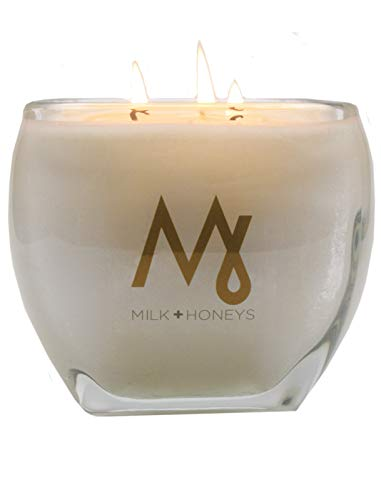- CASHMERE LA VIE - Tranquil Peaceful Comforting Scent 100% Soy Candle - Luxe Large 15oz 3 Wick, Glass Tapered Square Jar - Hand Poured Using only The Very Finest Waxes and Fragrances