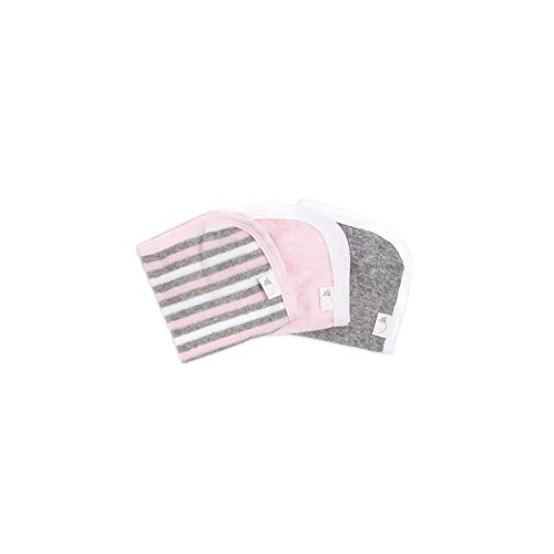 Burt's Bees Baby - Washcloths, Absorbent Knit Terry, Super Soft 100% Organic Cotton (Pink & Grey, 3-Pack) (Organic Terry Cloth)