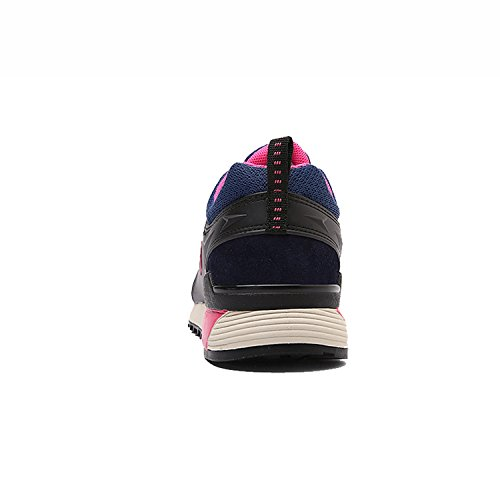 Running Hiking Leather Cushioning Womens Navy Suede Outdoors Anti CAMSSOO sweat Shoe 48BqwR00