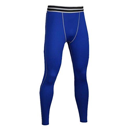 Compressione Leggings Pantaloni Collant Strato Di Da Asciutto Uomo Esecuzione In Fresco E A Base Sport Blu Eufance Ginnastica rtsQhdxC