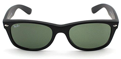 Ray-Ban RB2132 New Wayfarer Polarized Unisex Sunglasses (Black Frame/Crystal Green Polarized Lens 901/58, - 901 Rb2132