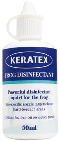 Rana Keratex desinfectante 50 ml - uso para proteger la rana y recuperarse de la infección evitarlo