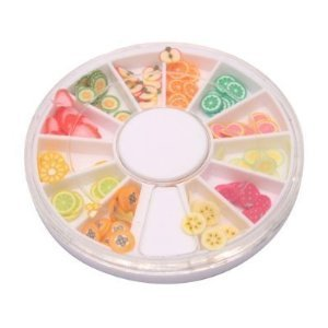 Fruit Slices Fresh - StaiBC Nailart Tools 144pcs 3D FIMO Slice Fresh Fruit Face Decoration