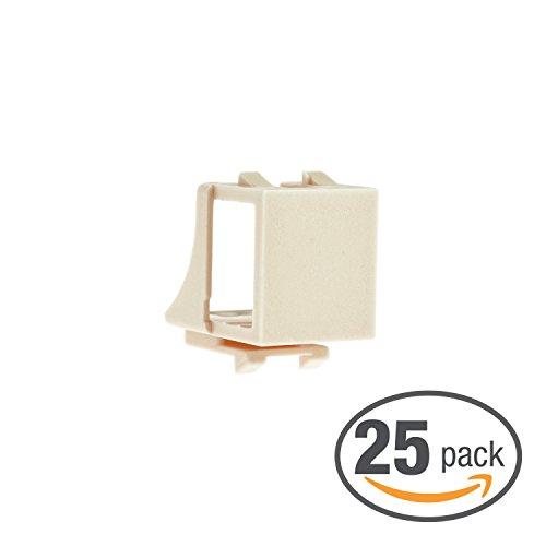 25 Keystone Wall Plates - Mediabridge Blank Keystone Jack (Almond) - Blank Insert for Keystone Wall Plate - 25 Pack (Part# 51J-00-AL-25PK )