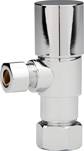 Monogram Brass MBX139053 Chrome Decorative Contemporary Quarter-Turn Water Supply Angle Stop