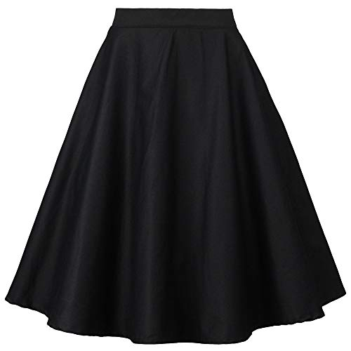 Tailloday 1950's Vintage Full Circle Pleated Floral A Line Midi Skirt (S, Multi-11)