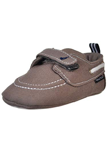 Baby Infant Phat Shoes - Nautica Boys' Tiny River Crib Shoes Grey, 1 M US Infant