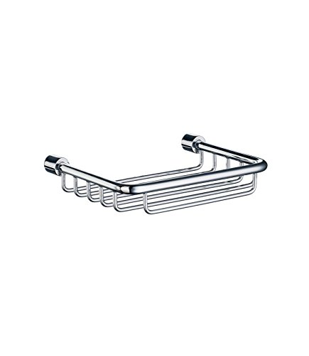 Smedbo SME DK1005 Soap Basket Straight 1 Level, Polished Chrome, - Dish Soap Smedbo