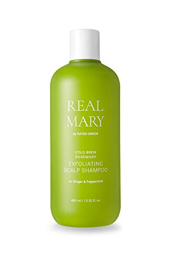 REAL MARY COLD BREWED ROSEMARY EXFOLIATING SCALP SHAMPOO w/Ginger & Peppermint