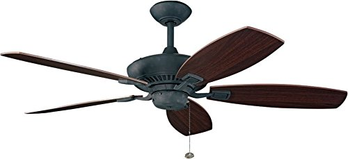 52 Canfield Ceiling Fan in Distressed Black