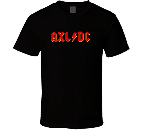 AXL/DC Lightning Bolt with Yellow Band Collaboration Music T Shirt