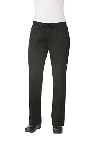 Chef Works Women's Chef Pants, Black Small