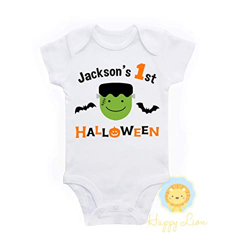 Happy Lion Clothing - 1st Halloween baby boy personalized bodysuit -