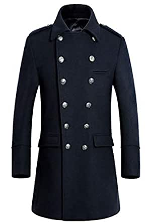 Generic Mens Winter Trench Long Jacket Coat Double