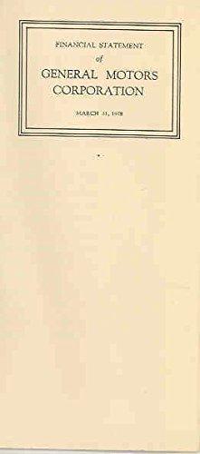 1928 Gm Financial Info Brochure Cadillac Buick Lasalle