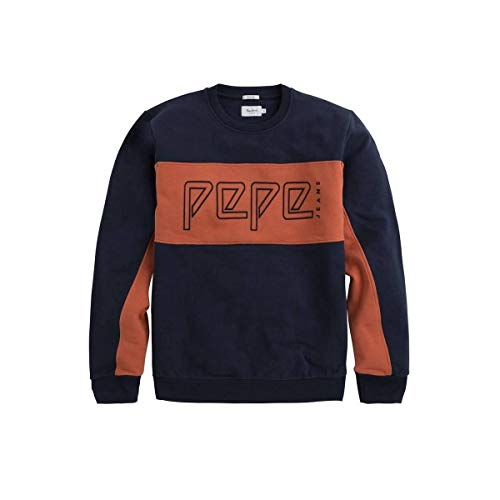 Sweat Homme Pepe shirt Artini Bleu Jeans orange xqwR1