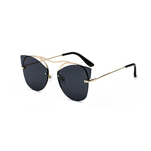 Aoligei Personnalité marée porter lunettes rondes font face à aucune frame lunettes rétro couleur lumineuse lunettes de soleil bXtkjKO