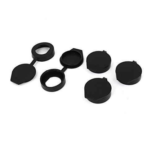 Cigarette Lighter Cover Plug Cap - SODIAL(R) Rubber Key Panel Cam Lock Anti Dust Waterproof Cover Cap Black 5PCS